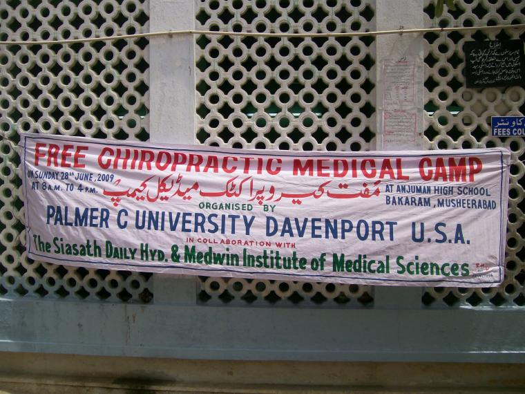 Dr. Scranton on an India Chiropractic Missions Trip